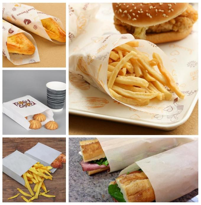 Factory Price Heat Resistant FDA Approved 28GSM Burger Wrapping Wax Paper