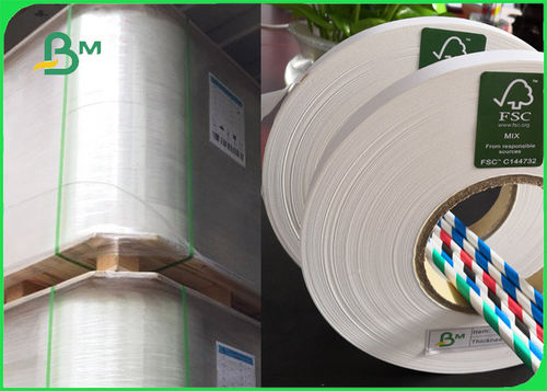 28gsm 60gsm 120gsm Straw Wrapping paper For Paper straws FDA Safety & EU Standard