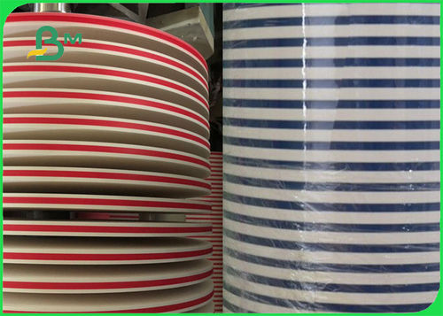 14mm 15mm Biodegradable 60gsm Printed Stripe Straw Paper Roll For Human Health