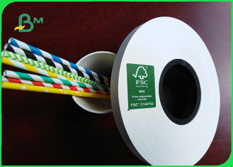 FSC Paper Drinking Straws 14mm X 60 GSM Food Grade White Paper Roll