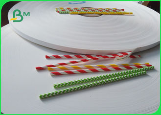 14mm * 60 GSM Food Grade White Paper Roll For Paper Drinking Straws FSC Approved