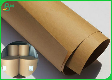 80 Gsm Brown Kraft Paper Roll High Stiffness Virgin Wood Pulp Material