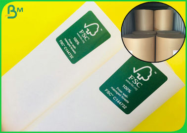 100% Virgin Pulp Reusable White Kraft Paper Roll For Making Paper Bags