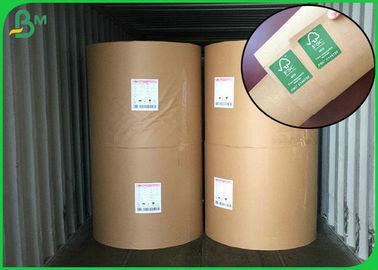 High Stiffness Brown Kraft Paper Roll / Grade AAA Recycled Kraft Paper Roll