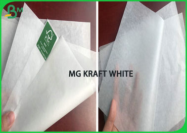 Custom Size A1 Sheet 28gsm 30gsm MG White Kraft Paper Roll For sandwich & Fast Food
