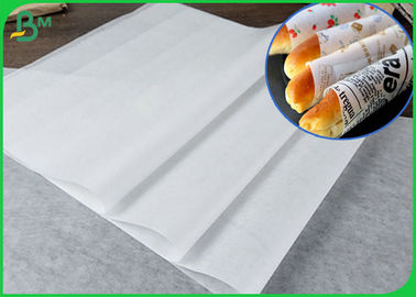 35GSM MG Kraft White  Paper Roll With Virgin Pulp Style To Wrap Bread