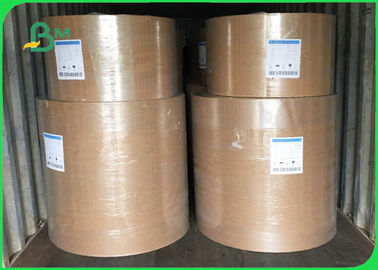 Paper Plate Raw Material FSC PE Coated Brown Kraft Plain Paper 700mm Coils