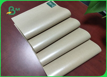 60g + 10g Unbleached Food PE Coated Paper / Waterproof Kraft Paper One Side Glossy