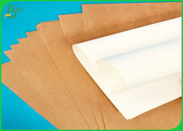 40G 50G 80G Virgin Uncoated White Sack Kraft Paper / Brown Craft Paper Jumbo Roll