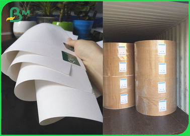 China FSC Bleached Kraft Paper Rolls 36 Inch 80gsm 120gsm White Wrapping Paper supplier