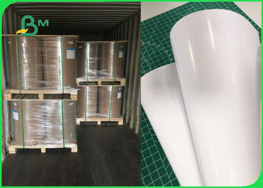 Jumbo Roll 135gsm Glossy Coated Couche Paper For Printing 610MM 760MM 860MM