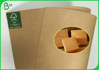 Anti - Curl FSC Approved Brown Kraft Paper Roll Of 190g 200g 230g 250g