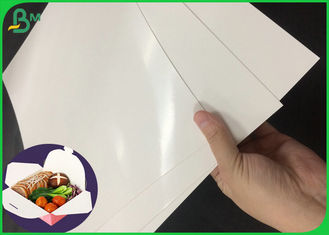 300GSM Resistant The Oil Lunch Box Paper With One Side PE Coated