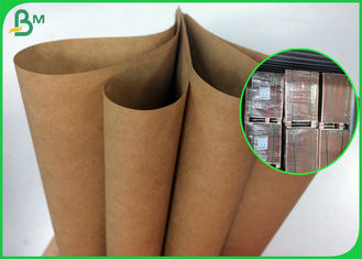 80g 90g Strong Bearing Capacity Brown Kraft Paper Roll For Satchel Bag