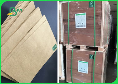 80g 100g 120g High Stiffness Brown Kraft Paper For Packing Rice 70 * 100cm