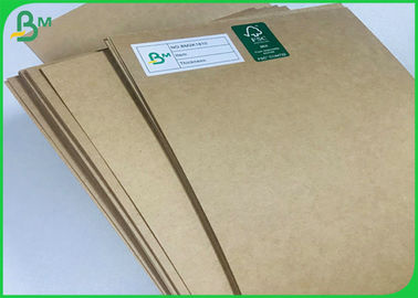 Food Take Away Container 300gsm 350gsm Sheets Brown Cardboard For Packaging Box