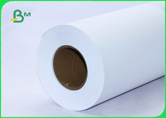 80gsm CAD Plotter Paper For Architecture 24inch X 150ft Roll With 2inch Core