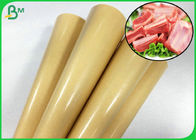 Brown Color Greaseproof PE Coated Meat Packing Paper Of Virgin Pulp Style