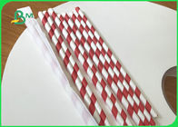 33mm * 5000m 25g 28g Eco - Friendly Food Garde Straw Wrapping Paper Roll