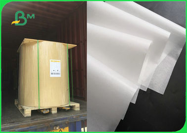China FSC 30gsm 35gsm 40gsm 45gsm 50gsm MG White Kraft Paper Roll 100% Food Grade factory