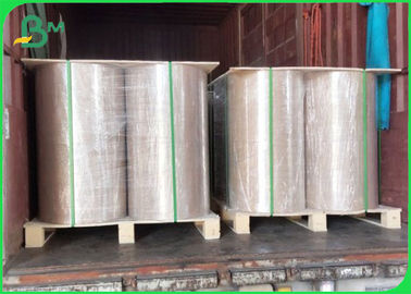 China FDA 50 - 60gsm White Machine Glazed Kraft Paper For Block Bottom Fast Food factory